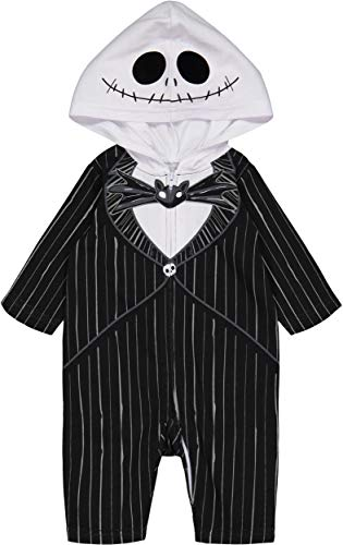 Nightmare Before Christmas Jack Skellington Baby Boys Hooded Costume Coverall 6-9 Months