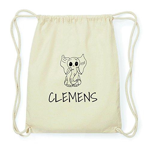 JOllipets CLEMENS Hipster Turnbeutel Tasche Rucksack aus Baumwolle Design: Elefant RhcWK