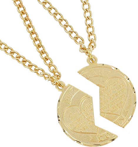 Necklace Bff Set New Mizpah Coin Pendant Best Friends Genesis Fancy Gold Tone Necklace For Women