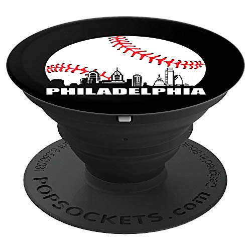 Philly Downtown Philadelphia Shirt Baseball Skyline PopSockets Grip and Stand for Phones and Tablets]()