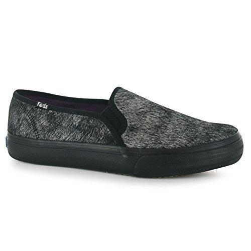 Keds Decker met Pony Slip On Zapatillas para mujer negro zapatillas zapatos calzado, negro