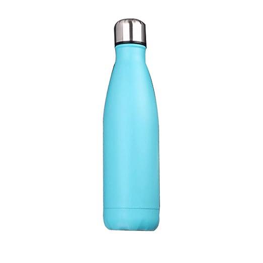 ZHANGQXIA Botella de Agua de Frasco de vacío de Acero Inoxidable ...