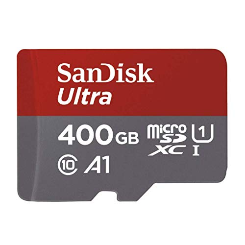 SanDisk 400GB Ultra microSDXC UHS-I Memory Card with Adapter - 100MB/s, C10, U1, Full HD, A1, Micro SD Card - -