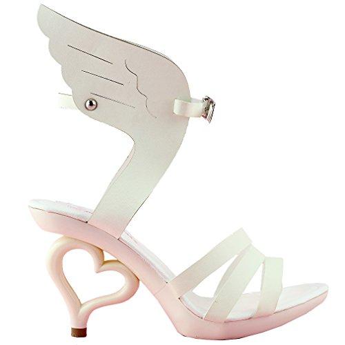 removibile Ala beige caviglia 20 Story alla sandali Mostra cinturino colori fiori sposa sposa SM33101 di da dei angelo scarpe gXRZw