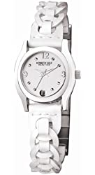 Kenneth Cole Women's KC2424 Reaction White Leather Watch