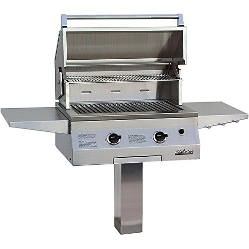 Solaire 27 Inch Deluxe All Infrared Natural Gas Grill On In-ground Post - -
