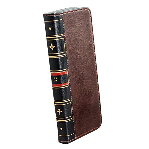 Samsung Galaxy S9 Plus Wallet Case – PU Faux Leather Style Book – Olixar X-Tome – With Credit Card Storage Slots and Built In Media Viewing Stand – Wireless Charging Compatible – Brown