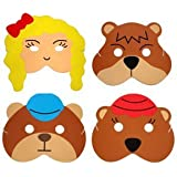 Teaching Resource Sack - Goldilocks & the 3 Bears Story Play Mask Set