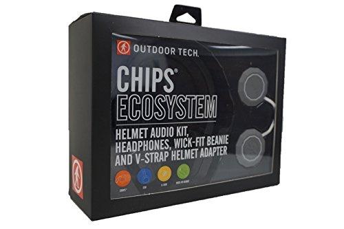 KETCL - Outdoor Tech OT0552 Rugged Wireless Exoskeleton, Wick-Fit Beanie, K-Roo Pouch Helmet Audio kit, ()