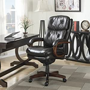 La z boy bonded leather executive office chair for La z boy dining room chairs