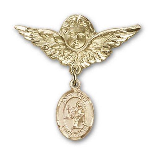Icecarats Or Bijoux De Créateurs Rempli R. Luke Le Charme Ange Apôtre Broche De Badge 1 1/8 X 1 1/8