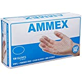 Ammex VPF Vinyl Glove, Medical Exam, Latex Free, Disposable, Powder Free, Small (Box of 100)