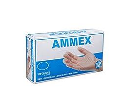 AMMEX - VPF64100 - Medical Vinyl Gloves - Disposable, Powder Free, Exam, 4 mil, Medium, Clear (Case of 1000)
