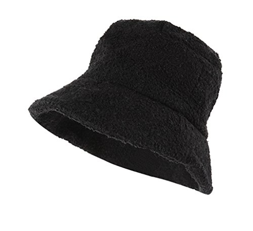 Tidecloth Women's Floppy Brim Casual Adjustable Cuff None Beret Hat Black One Size