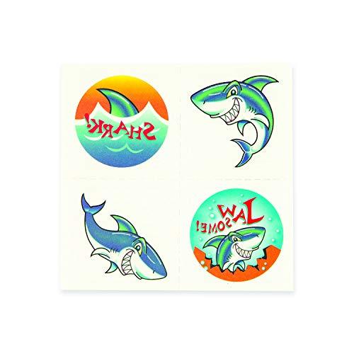 Fun Express Shark Tattoos (6 Dozen) Party Favors, Apparel Accessories, Temporary Tattoos
