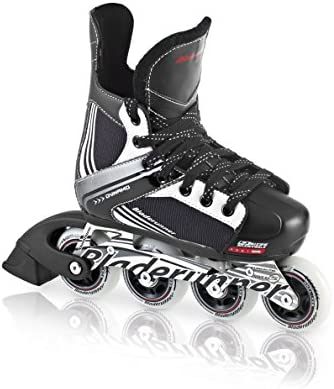 Bladerunner by Rollerblade Dynamo Jr Size Adjustable Hockey Inline Skate, Black and Red, Inline Skates