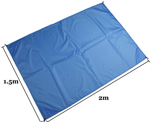 TourKing Beach Blanket with 4 Sand Packets, Nylon Waterproof Sandproof Fast Drying Lightweight Outdoor Blanket, Outdoor Travel
