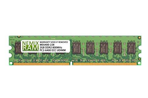 2 Gb Ecc Server - 2GB (1x2GB) DDR2-800MHz PC2-6400 ECC UDIMM 2Rx8 1.8V Unbuffered Memory for Server/Workstation