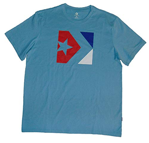 Converse Men's Graphic T Shirt All Star XL Cotton Blue ()