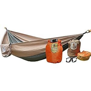 Koala Portable Camping Hammock Bed Bundle 400 lbs Max Weight +2-Hanging Straps, 2-Carabiners, Stuff Sack, Dry Bag