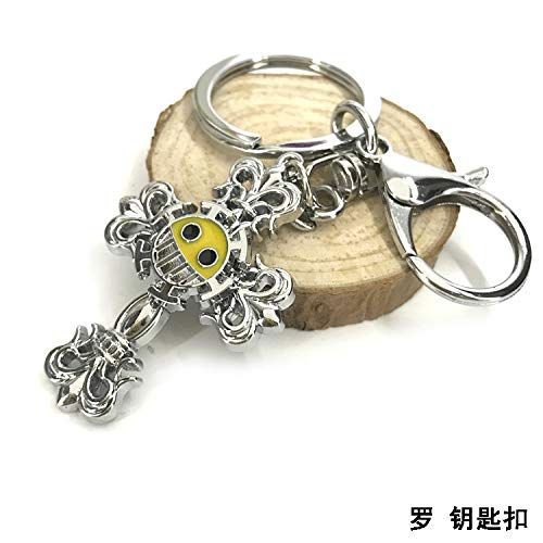 metal gaara sand shadow key chain necklace pendant two rotatable student gift (luo keychain