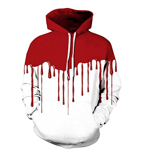 DMMSS Men's Drawstring Sports Hoodie Color Gradient Realistic 3D Printed Unisex Sweatshirts Long Sleeves with Big Pocket For Teenage Halloween Costumes (Multiple Colours And Size), style 2, xxl/xxxl -
