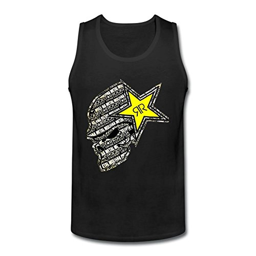 Futhure Men's Rockstar Energy Drink O Neck DIY Tank Top T