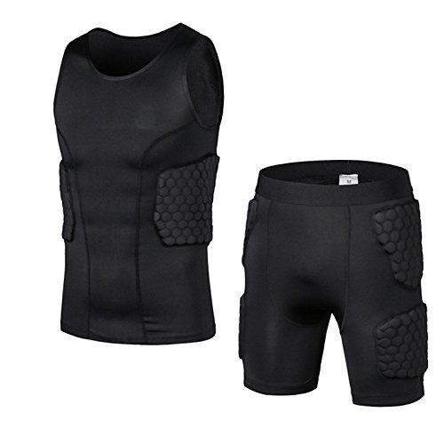 JIANSHENYK Spiel-Basketball Radfahren Armor Crashproof Honeycomb Sport Männer Protektorenweste Shorts Sportwear Sport Sicherheit