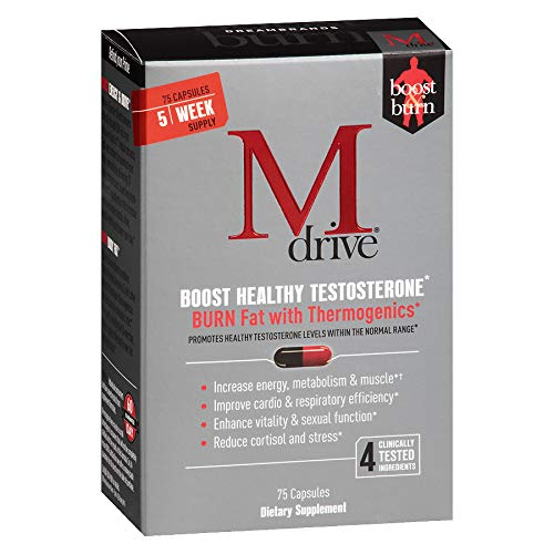 MDrive Classic Men's Health Booster Dietary Supplements, Contains Vitamin D3, B6, B12, and Ashwagandha Extract, Male Adrenal and Testosterone Support, Sex Drive by Dream Brands (75 Capsules)
