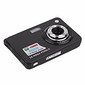 PeGear 18MP 2.7inch Mini Digital Camera with 8x Digital Zoom-Black