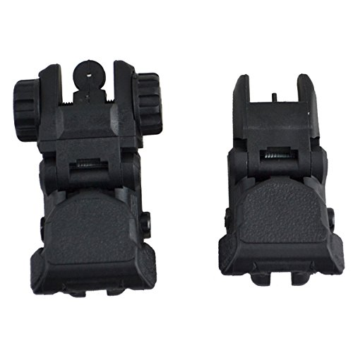 (Sniper Tactical Polymer Front and Rear Combo Set For Picatinny Rails)