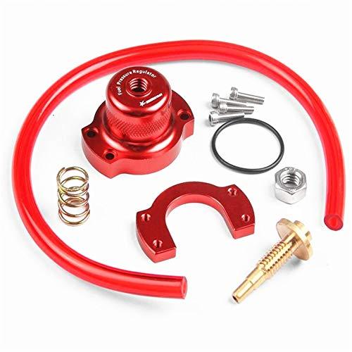 Red Aluminum Adjustable Fuel Pressure Regulator Conversion for Honda 90-00 Civic/Integra/Acura (Best Air Fuel Ratio For Supercharged Engine)