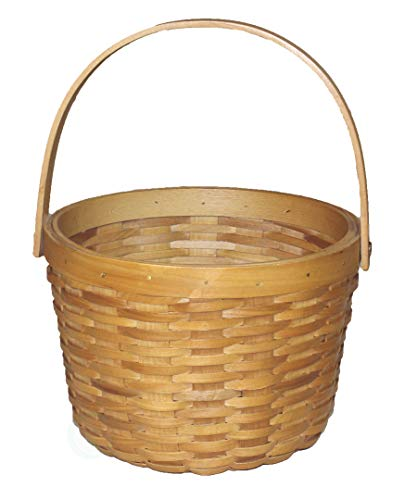 Vintiquewise(TM) Small Chip Apple Picking Basket (Baskets Wood With Wicker Handles)