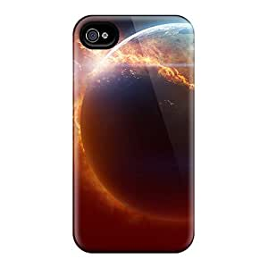 NicoleRStull Snap On Hard Case Cover Fire Planet Protector For Iphone 4/4s