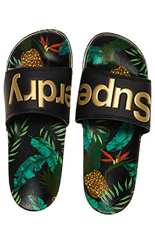 Aop Superdry Femme Beach J2j Multicoloreblack SlideTongs pineapple UpMSzV