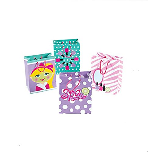 Fun Express Small Spa Party Gift Favor Bags (1 Dozen) (Favor Spa Bag)