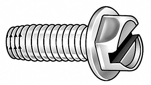 2' Hardened Steel Thread Cutting Screw with Hex Washer Head Type; PK25 - pack of 5