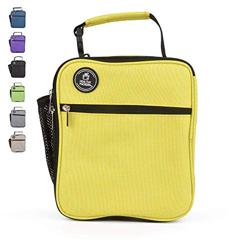 - Insulated Lunch Box for Adults and Kids - Professional Work Lunch Bag for Men and Women - Spacious and Heavy Duty School Lunchbox for Boys and Girls (Yellow)
