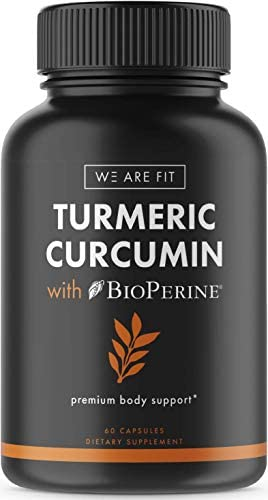 Turmeric Curcumin 650mg Complex with BioPerine, Joint Heart Support – Anti-inflammatory – Turmeric 95 Curcuminoids Black Pepper for Better Absorption, 60 Veggie caps