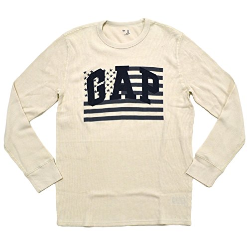 Gap Mens Long Sleeve Crew Neck Thermal Shirt (X-Large, Beige)