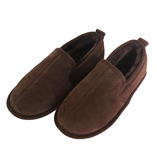 Sheepskin Soft Chocolate Slippers Sole Luxury Mens wPxqU0W