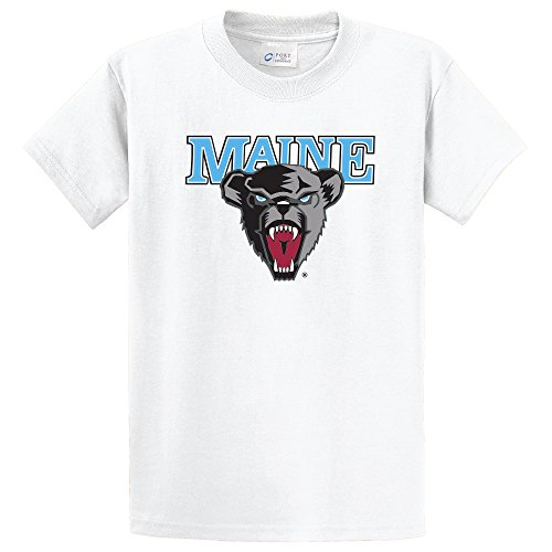 Campus Merchandise NCAA Maine Black Bears Short Sleeve Tee, X-Large, White