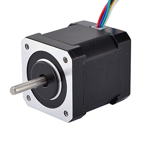 STEPPERONLINE Nema 17 Unipolar Stepper 1.8deg 12v 0.4A 32Ncm/45.3oz.in 42x42x48mm 6-wires DIY (Stepper Nema Unipolar Motor)