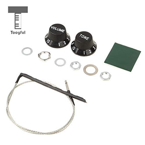 ive Tone and Volume Control Equalizer Preamp Piezo Pickup Kit for Acoustic Guitar Accessories Musicians Gift ()