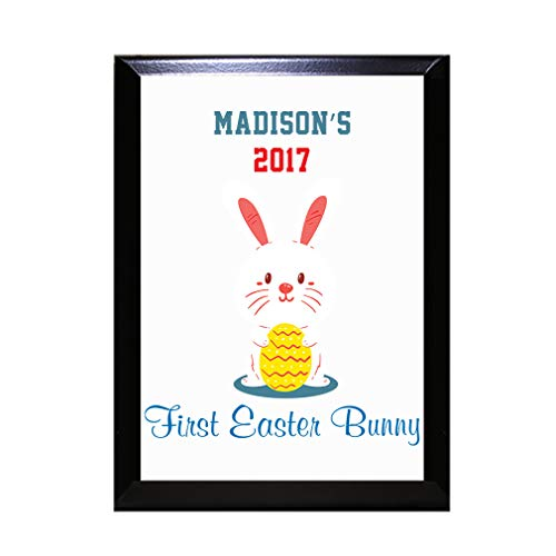 Style In Print Personalized Custom Text Easter First Easter Bunny Wood Wall Plaque Sign -7