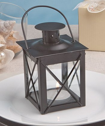 [Tealight Hurricane Lantern (Black)] (Black Hurricane)