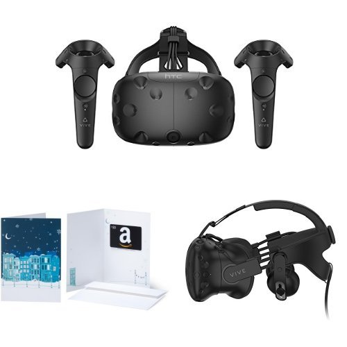 HTC VIVE Virtual Reality System + Deluxe Audio Strap + $50 Amazon Gift Card by HTC