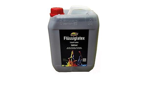 Látex líquido 5 litros negro látex en bidón, color natural, goma natural líquido, goma, leche látex Leche, calcetines Cronómetro, halloween, Máscaras, ...