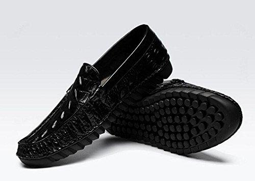 Oxford Qualidade Respirável Nova Crocodilo em High Camada De Deslizamento 43 Primeira De Padrão Ervilhas Homens De Preto Alta end Sapatos Couro qOwCUA