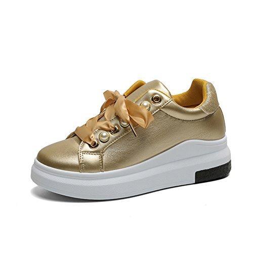 Kleine Weiße Schuhe,Student Korean Version Round Head Hundert Schuhe,Casual Sneakers Mit Flachem Boden Und Dicken Sohlen,Damenschuhe E